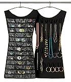 Vestido Joyero Negro Shiny Hanger. Organizador de Joyas
