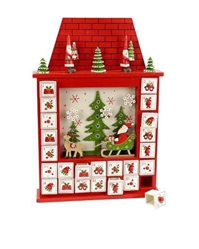 Decoracion Navideña Calendario De Adviento Navidad Chimenea