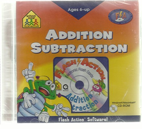 Flash Action Electronic Flas Cards Software - Addition & Subtraction (Win95/98 & Mac 7.5)