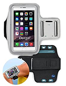 buy Deego Nancy'S Shop Easy Fitting Sports Universal Armband With Build In Screen Protect 5.5 Inch Case With Key Holder Slot For Iphone 6 Plus - Grey
