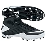 Nike 396254001 Super Speed TD 3/4 Men's Football Cleats (Black/White)