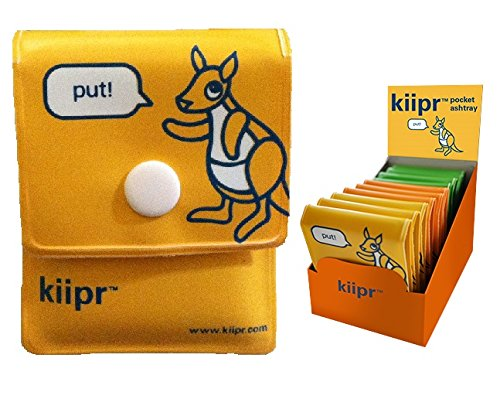 Big Save! Kiipr Pouch Pocket Ashtray 10-pack