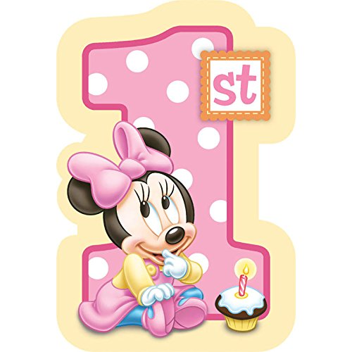 8-Count Minnie's 1st Birthday Invitations with Sticker Seals