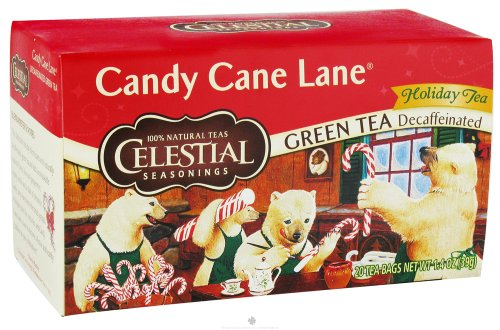 Candy Cane Lane Green Holiday Tea decaf  20 Tea Bags
