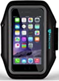 iPod Touch 5th Armband : Stalion® Sports Running & Exercise Gym Sportband (Jet Black)[Lifetime Warranty] Water Resistant + Sweat Proof + Key Holder