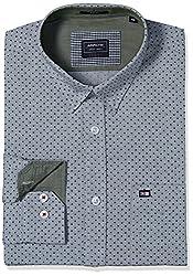 Arrow Sports Men's Casual Shirt (8907259826196_ASRS3263_40_Light Grey)