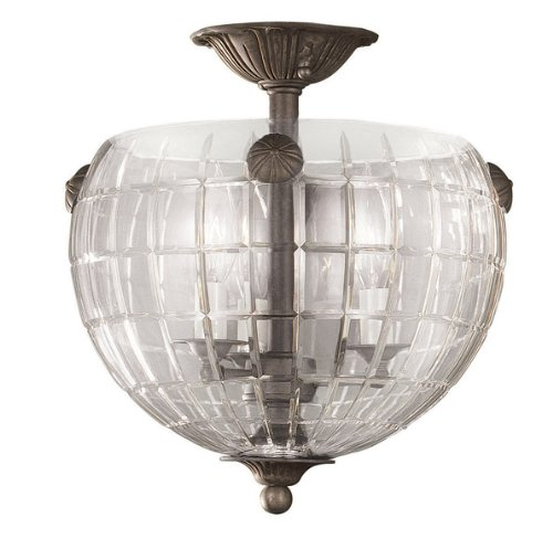 World Imports Lighting 53-06 Crystal Elegance 3-Light Glass Fixture, Flemish