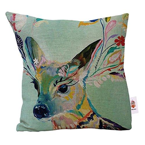 nunubee-oil-painting-deer-throw-pillow-cushion-covers-cotton-linen-home-sofa-decor-gift