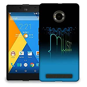 Snoogg Music Designer Protective Back Case Cover For MICROMAX YU YUPHORIA