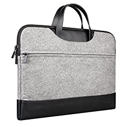 Inateck 13-13.3 Inch MacBook Air / MacBook Pro / Pro Retina Sleeve Case Bag Cover Laptop Notebook Ultrabook Bag with Leather Handle, Gray
