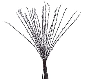 """24 pieces of 39"""" Pussy Willow Artificial Silk Flower Bendable Sprays"""