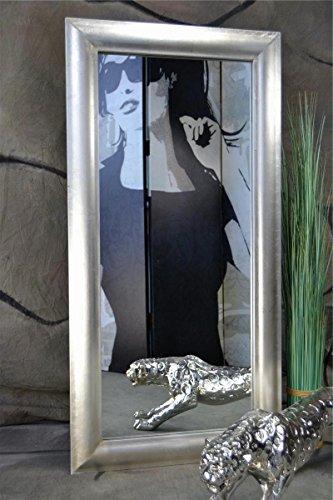 Livitat-Wandspiegel-Spiegel-MODERN-100-x-50-cm-Badspiegel-mit-Balttsilber-Silber-SX