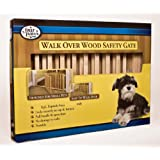 "Four Paws Walk Over Wooden Dog Gate, 30-44"" W by 18"" H ~ Four Paws"