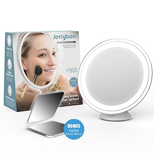 jerrybox-makeup-mirror-7x-magnifying-lighted-makeup-mirror-with-free-pocket-mirror-included
