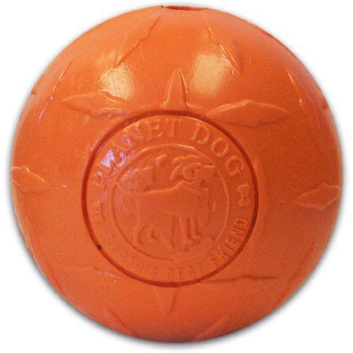 Planet Dog Orbee-Tuff Diamond Plate Orbee Ball, Orange