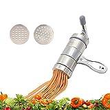 Virtuous * DIY Manual Kitchenaid Attachments Noodle Press Pasta Maker - Fruits,vegetable,citrus Juicer Press & Pasta Machine with 2 Noodle Mould
