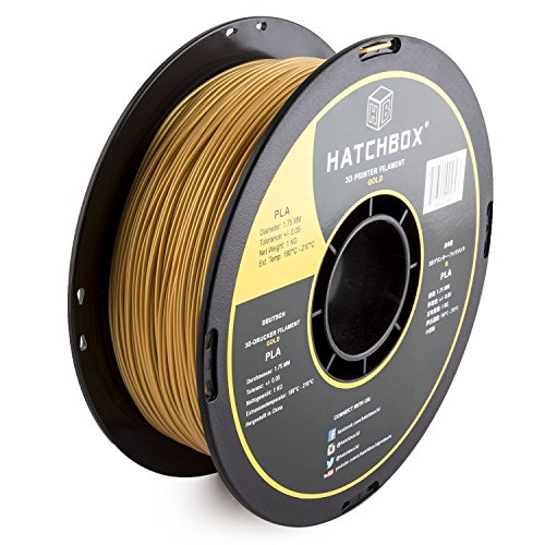 HATCHBOX-3D-PLA-1KG175-GLD-PLA-3D-Printer-Filament-Dimensional-Accuracy-005-mm-1-kg-Spool-175-mm-Gold