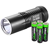 Nitecore EA4 860 Lumen CREE XM-L U2 LED compact flashlight/searchlight with 4 X EdisonBright AA Alkaline batteries