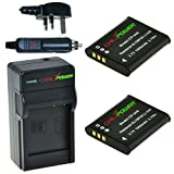 ChiliPower Olympus Li-50B 1000mAh Battery 2-Pack + Charger (UK Plug) for Olympus Stylus 1010, 1020, 1030, 9000, 9010, SP-720UZ iHS, SP-800UZ, SP-810UZ, SZ-10, SZ-11, SZ-12, SZ-15, SZ-16 iHS, SZ-20, SZ-30MR, SZ-31MR iHS, Tough 6000, 6020, 8000, 8010, TG-6