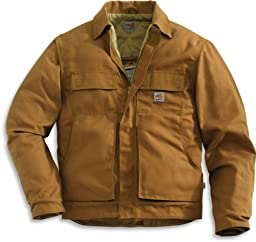 Carhartt Men\'s Big & Tall Flame Resistant Lanyard Access Jacket,Brown (Closeout),XX-Large Tall