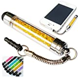 No1accessory new yellow crystal shaft stylus pen for Viewsonic viewpad 7e