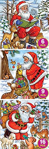 D-Toys Santa Tales - Three Pack Jigsaw Puzzle, 35-Piece