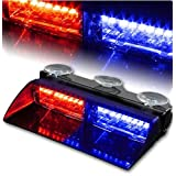 XT AUTO Car 16-led 18 Flashing Mode Emergency Vehicle Dash Warning Strobe Flash Light Red Blue