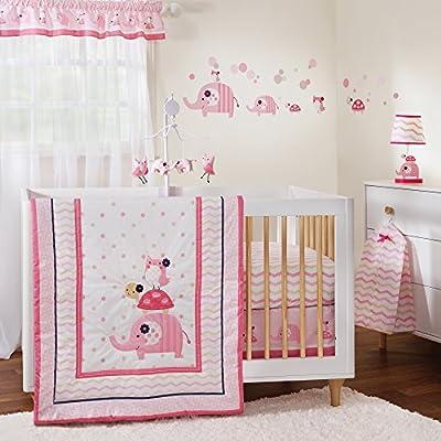 Gingersnap Ellie 3 Piece Girl Crib Bedding Set by Lambs & Ivy