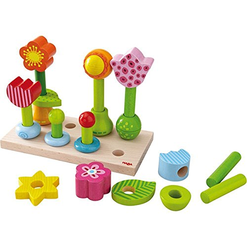 Haba Little Flower Garden Wood Pegging Game - 1