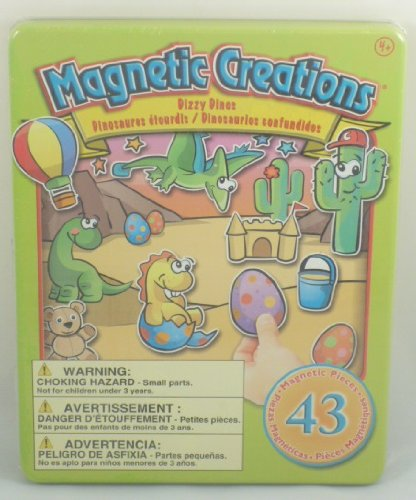 Magnetic Creations Playset 43 Magnetic Pieces - Dizzy Dinos