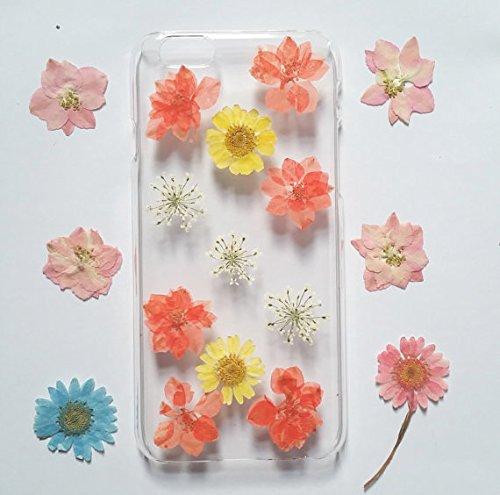 Wioucou iPhone6/6sケース 押し花 専用ケース 防水 耐衝撃 手作り 人気オシャレ 新品花柄 クリア ハンドメイド