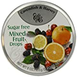 Cavendish and Harvey Sugar Free Mixed Fruit Drops 175 g (Pack of 10)