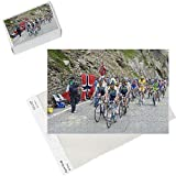 Photo Jigsaw Puzzle of Cyclists including Lance Armstrong and yellow jersey Alberto Contador in the from Robert Harding