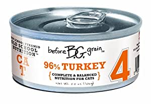 Merrick Before Grain #4 Turkey Paté Style Cat Food, 5.5 Ounce Can (24 Count Case)