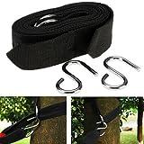 2 Pcs Solid Hammock Straps Wide Polypropylene Fiber Handy Swing Belt Hooks