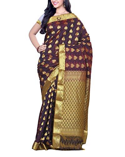 RT Raviraj Textile Maroon Silk Cotton Saree With Blouse Piece