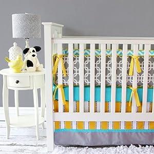 Caden Lane 2 Piece Crib Set, Gray Bright Baby