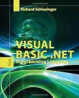 Visual Basic .NET by Schlesinger