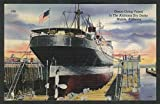 Ocean Going Vessel Alabama Dry Docks Mobile AL postcard 1930s