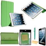 Foxnovo 4-en-1 ultra-fin Smart PU cas Stand Kit de caches pour iPad mini 2 (mini iPad avec écran Retina) Apple iPad mini (vert)