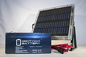12V 3AH Replaces Rhino SLA2.9-12 + 12V Solar Panel Charger - Mighty Max Battery brand product by Mighty Max Battery