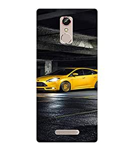 EPICCASE Yellow Stylish car Mobile Back Case Cover For Gionee S6S (Designer Case)