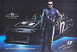 Buy AUTOGRAPHED 2012 Matt Kenseth #17 Fifth-Third Bank Racing (Roush) 7X11 NASCAR SIGNED Hero Card w  COA by Trackside Autographs