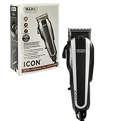 Wahl Professional Icon Clipper #8490-900 - Ultra Powerful Full Size Clipper - Great for Barbers and Stylists - Features Cool Running v9000 Motor