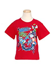 Disney Boys Red Extreme Sports Printed Tee Shirt Top 4 14