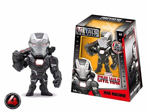 "NEW JADA CAPTAIN AMERICA CIVIL WORLD MOVIE VERSION - 4"" Metal DieCast (Die-Cast) WAR MACHINE Action Figures By Jada Toys"