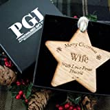 Wife keepsake, wife christmas gift, personalised star keepsake xmas, wife christmas star, wife xmas gift ideas, wife wooden star