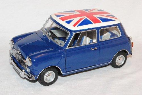 Mini Morris Cooper MKI Blau mit Junion Jack 1968 1/18 Kyosho Modell Auto
