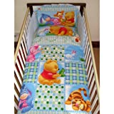 Disney Winnie the Pooh Follow the Leader Bedding Set for Cot or Cotbed Blue (Cot - 120 x 60cm)