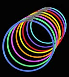 "50 Lumistick 22"" Glow Stick Glow Necklaces - Assorted 8 Color Mix"